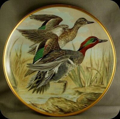 Bart Jerner Green-Winged Teal Water Birds of the World Franklin Porcelain