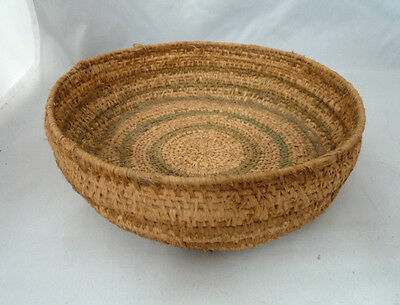 "Native American Weave Basket Bowl. Nice Design. Approx 2.5"" T & 8.5"" D"