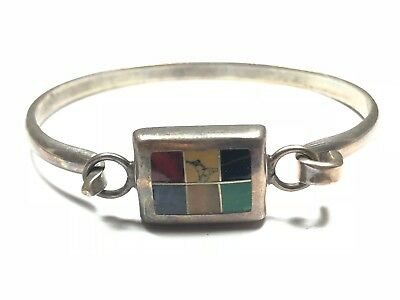 Incredible .925 Sterling Silver Bracelet w/ 6 Different Stones - FREE S&H!!!