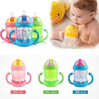 Sippy Cups With Handles Baby Kid Straw Cup Drinking Bottle Children Training Cup