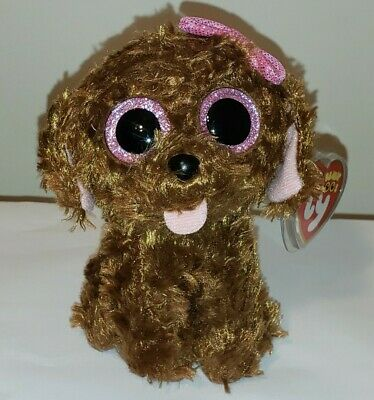 """Ty Beanie Boos ~ MADDIE the 6"""" Dog ~ NEW Plush Toy ~ MINT with MINT TAGS"""