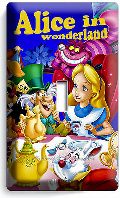 Alice In Wonderland Single Light Switch Wall Plate Kids Bedroom Play Game Room