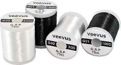 VEEVUS GSP THREAD -- Fly Tying 30 50 100 200 denier or lot of 9 spools