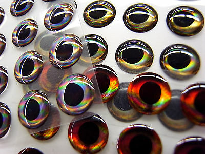 FISH SKULL LIVING EYES --  Earth  Wind  Fire  Ice in 7 sizes  -- Fly Tying