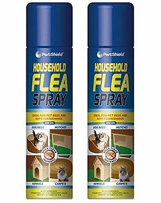2 x Cans Of PestShield - Household Flea Spray - 200ml Each