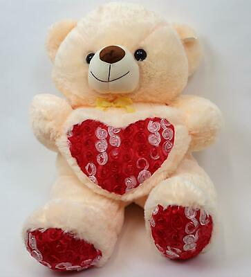 "30"" Soft Teddy Cuddly  Bear with Pink Heart Valentines Birthday Gifts"