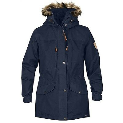 Fjällräven Sarek Winter Jacket Trekking Winterjacke Damen dark navy