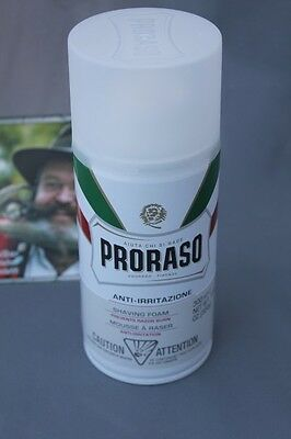 Proraso ŸShaving Foam white sensitiveŸ Rasierschaum mit grünem Tee 300ml
