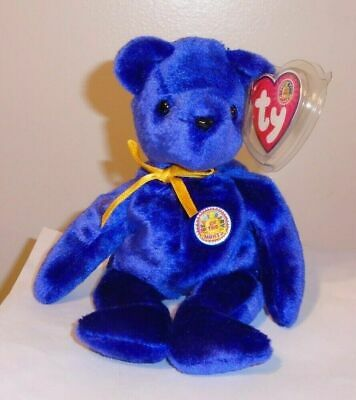Ty Beanie Baby ~ SAPPHIRE the Bear May 2004 BBOM ~ MINT with MINT TAGS