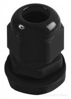 CABLE GLAND M20 10-14MM BLACK 10/PK Part No. NGM20-BK By HELLERMANN TYTON