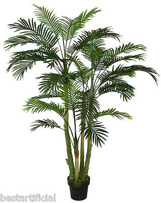 Best Artificial 150cm 5ft PARADISE PALM Tree Tropical PLANT Office Conservatory