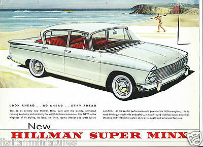 Hillman Super Minx 1961 Original Brochure Leaflet Excellent