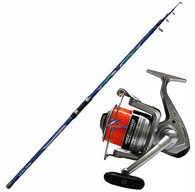 KP1821 Kit Surfcasting Canna Blue Wave 390 + Mulinello Oceanic 80           RN