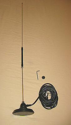Sigma Center Loaded Magnetic Mag Mount CB Antenna Aerial Kit Omni Directional