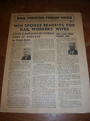 Rail Pension Forum News Page for All Railroad Workers Oct 1965 Vol 18 No 2