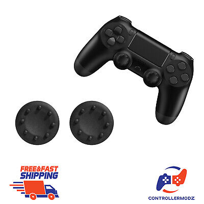 2 x Thumb Stick Cover Grip Caps Sony PS4 + XBOX One Analog Controller (Black)