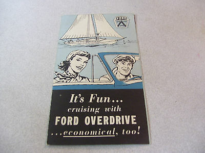 Vintage It's Fun.. Cruising with Ford Overdrive Automobile Brochure