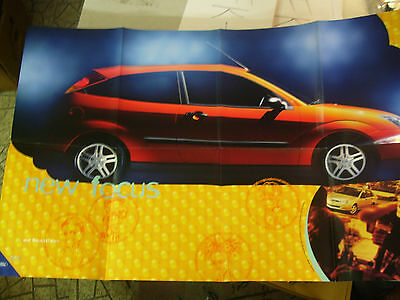 Amazing 2000 FORD Focus Automobile Brochure Opens up To a Huge Full Page!