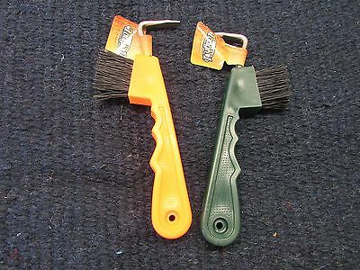 Tough 1 Pair of EZ Grip Hoofpick/Brush Combination horse tack equine 68-037