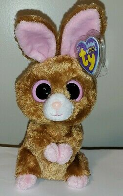 "Ty Beanie Boos ~ HOPSON the 6"" Brown Bunny Rabbit ~ NEW with MINT TAGS ~ RETIRED"