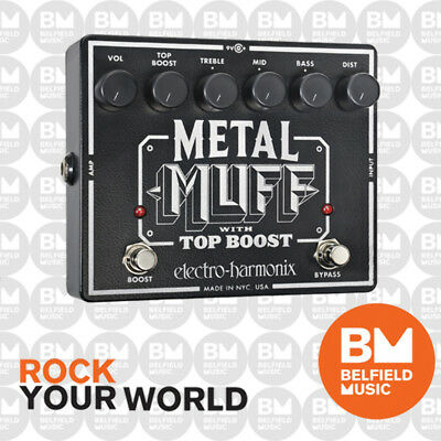 Electro-Harmonix EHX Metal Muff Distortion with Top Boost Effects Pedal FX - BM
