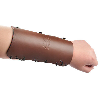 Shooting Archery Arm Restraint Leather Arm Guard Hook and Loop Barcer Safe