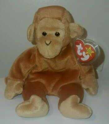 Ty Beanie Baby ~ BONGO the Monkey with Brown Tail ~ MINT with MINT TAGS -RETIRED