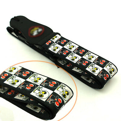 Guitar Strap NYLON Adjustable For Electric Bass Acoustic Cute Skull Ghost Style