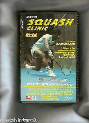 #ss,    Squash Clinic   Vhs Video Tape