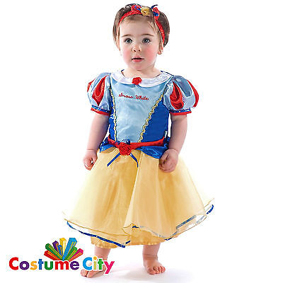 Babys Toddlers Official Disney Princess Snow White Fancy Dress Party Costume