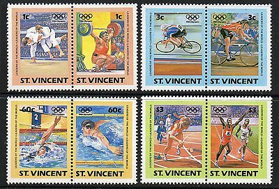 St.vincent Sg812/9 1984 Leaders Of The World Olympic Games Mnh