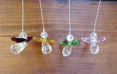 Hanging Clear Crystal Guardian Angel Suncatcher + 11 Other Colours