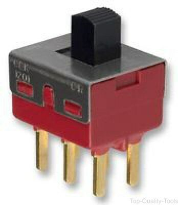 SLIDE SWITCH, DPDT, ON-ON, Part # 1201M2S3CQE2