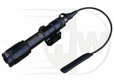 Airsoft Cree Torch Flashlight Weapon Light Surefire M600 Style Black Tomtac