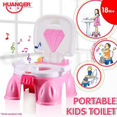 Portable Baby Kids Toddler Potty Training Toilet Chair Trainer Fun Seat ABS Pink