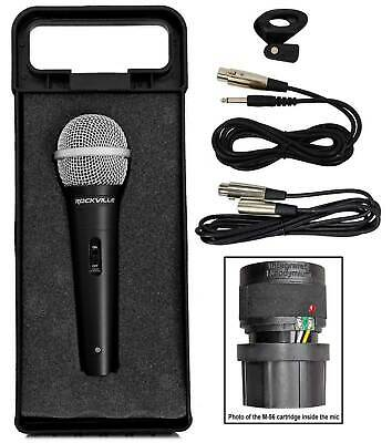 Rockville RMC-XLR High-End Metal DJ Handheld Wired Microphone Mic w (2) Cables