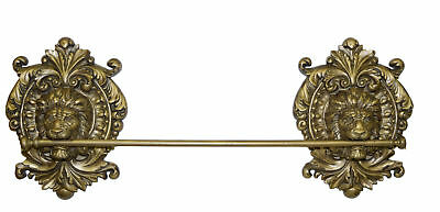 Hickory Manor House Lion Medallion Wall Mounted Towel Bar
