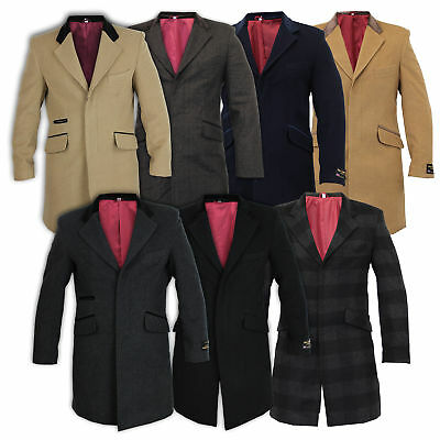Mens Coat Wool Jacket Cashmere Casual Outerwear Overcoat Trench Lining Winter