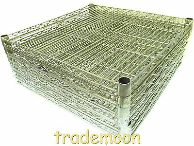 2424NC-LOT6 Lot of 6 Metro 24x24 In. Super Erecta Wire Shelving