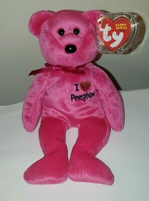 Ty Beanie Baby ~ I LOVE PENNSYLVANIA the Bear ~ Exclusive ~ MINT with MINT TAGS