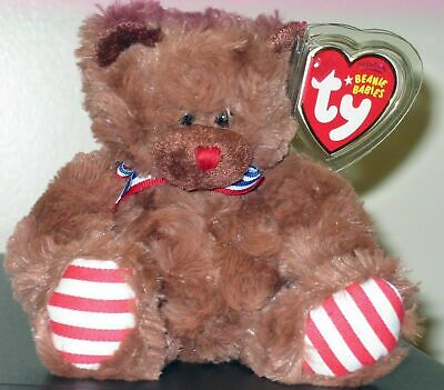 Ty Beanie Baby ~ UNCLE SAM the (Brown Version) Bear ~ MINT with MINT TAGS