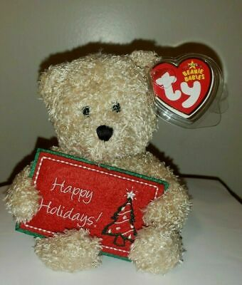 1c5154ea1e9 Ty Beanie Baby ~ HAPPY HOLIDAYS Bear (Greetings Collection)(6 Inch) MWMT