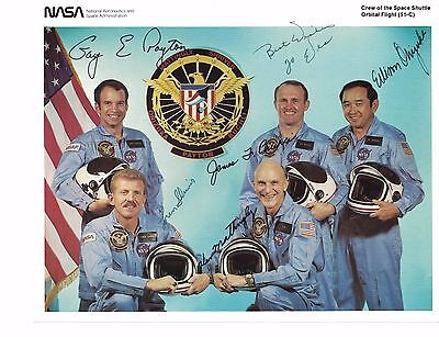 NASA 1984 Astronaut Photo Shuttle Discovery STS-51C SIGNED by Ellison Onizuka