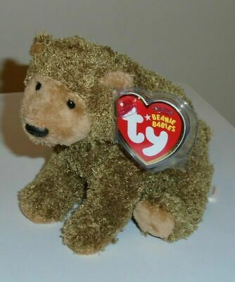 TY Beanie Baby - MONARCH the Grizzly Bear (San Francisco Zoo Exclusive) ~ MWMT'S