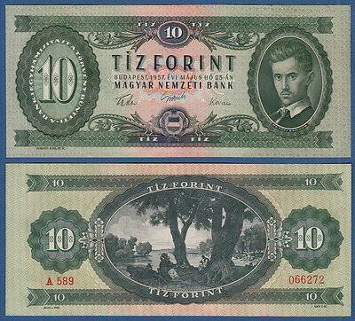 UNGARN / HUNGARY 10 Forint 1957 !!! UNC  P.168 a