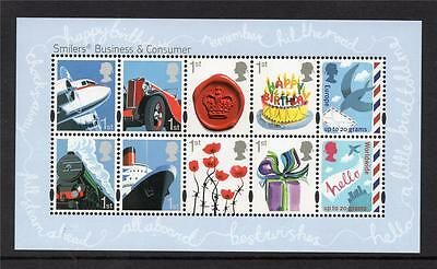 Gb Mnh 2010 Ms3024 Business And Consumer Smilers Minisheet