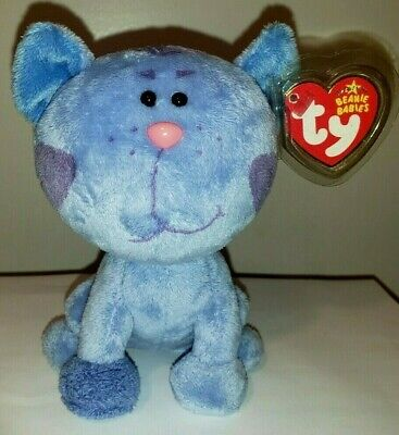 Ty Beanie Baby ~ PERIWINKLE the Nick Jr. Blues Clues Cat ~ MINT with MINT TAGS