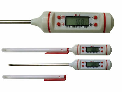 Digital Küchenthermometer Thermometer bis 300°C MAX-/MIN-/HOLD-Funktion WS
