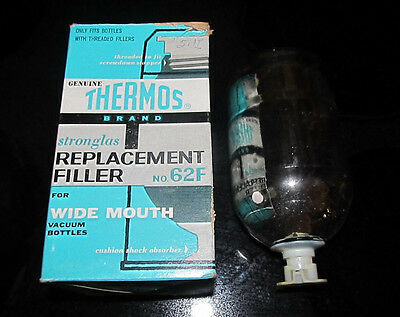 Stronglas Replacement Filler No. 62F Genuine Thermos Wide Mouth Vacuum Bottles