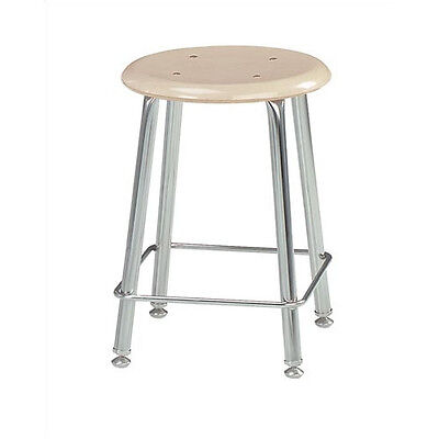 """Virco Height Adjustable Stool with Saddle Seat Navy 18"""" Set of 2"""
